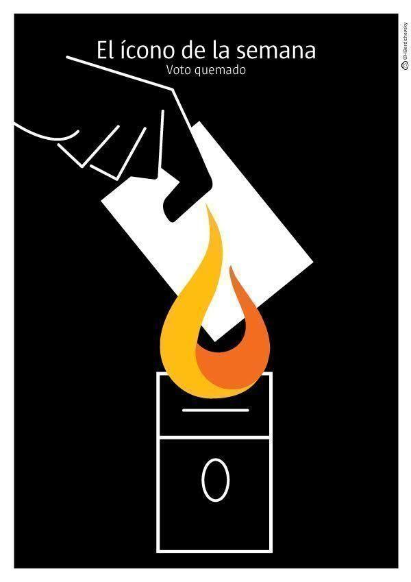 Voto quemado, el ícono de la semana