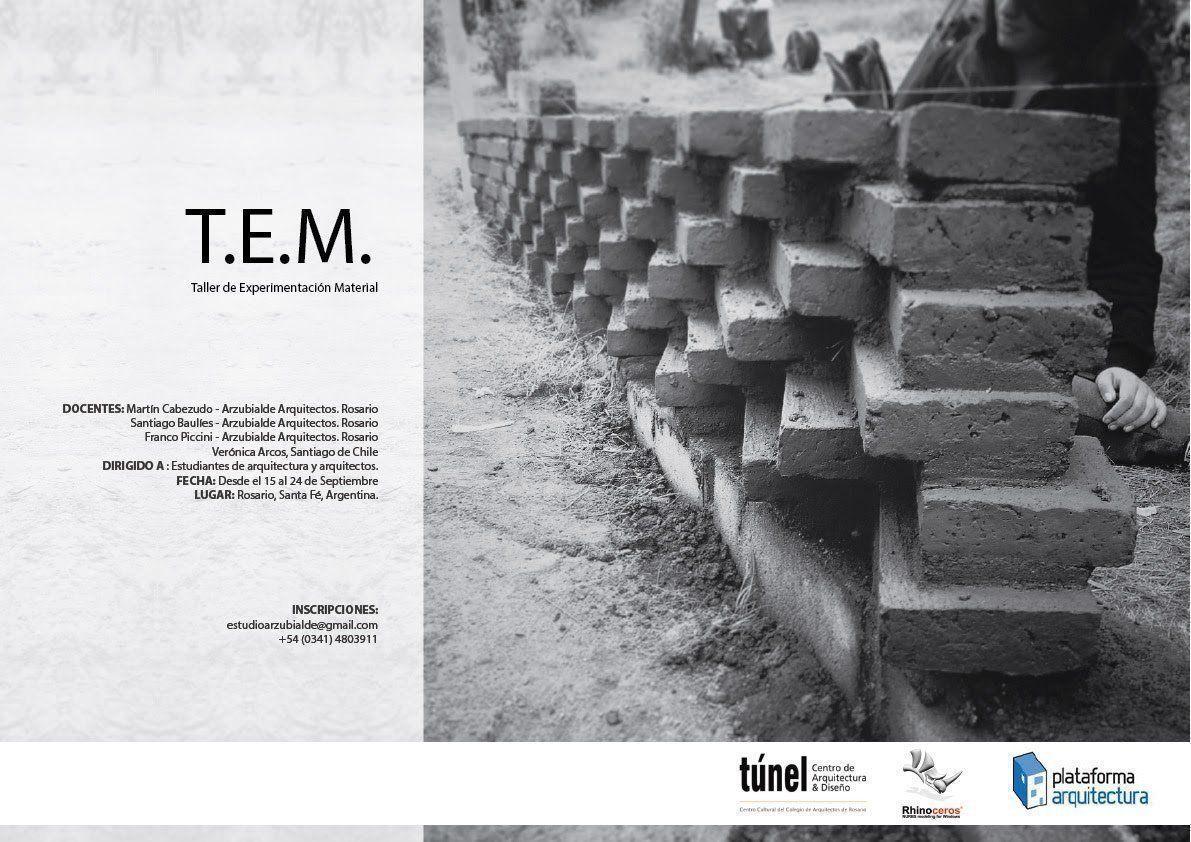 Workshop T.E.M: Taller de Experimentación Material