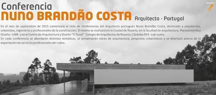 Conferencia Nuno Brandao Costa, en Rosario