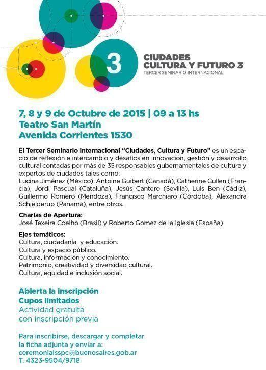"""3er. Seminario Internacional """"Ciudades, Cultura y Futuro"""""""