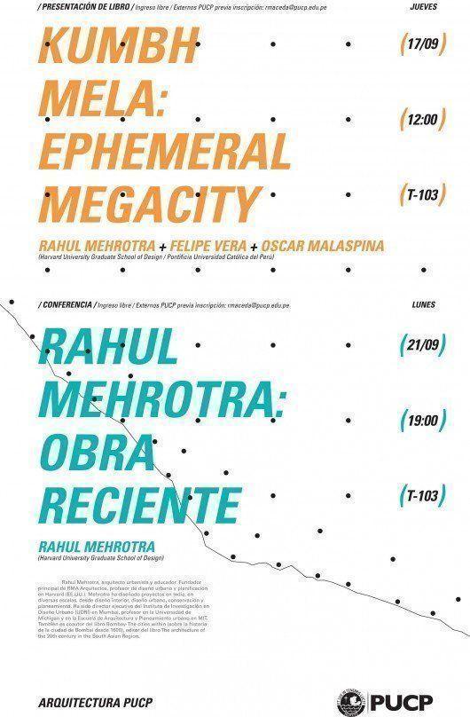 Rahul Mehrotra en la Facultad de Arquitectura y Urbanismo PUCP