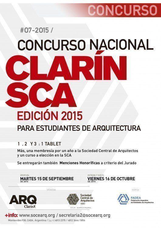 Concurso Nacional Clarín-SCA para estudiantes de arquitectura, Edición 2015