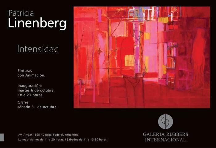 """Muestra de Patricia Linenber: """"Intensidad"""", en Galería Rubbers"""