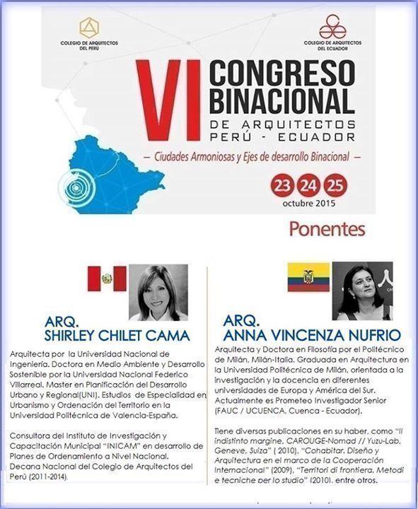 VI Congreso Binacional de arquitectos, Perú - Ecuador