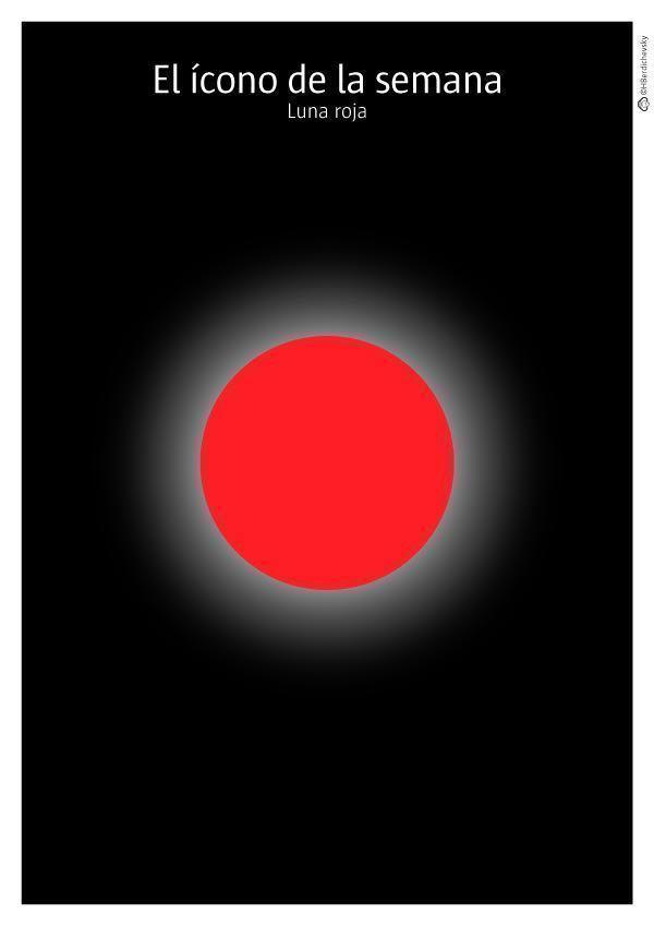Luna roja, el ícono de la semana