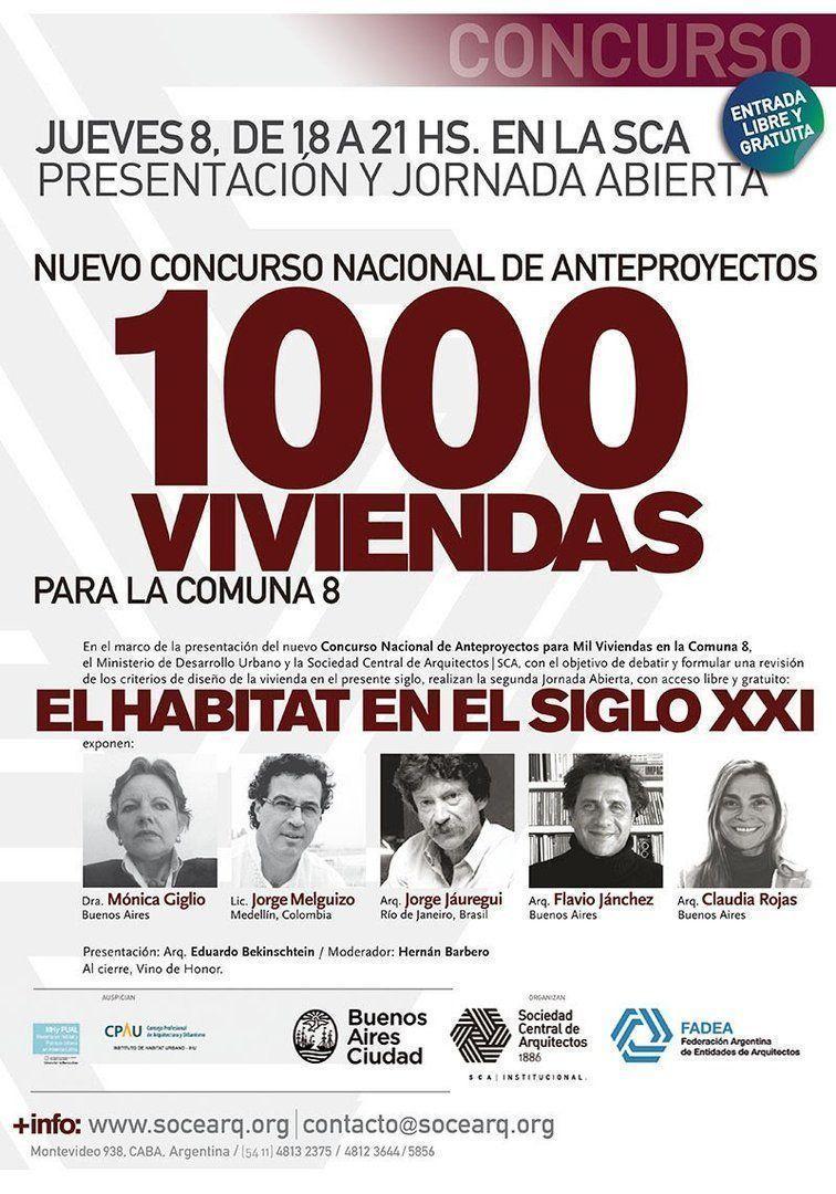Nuevo Concurso 1OOO VIVIENDAS Comuna 8: Presentación + Jornada