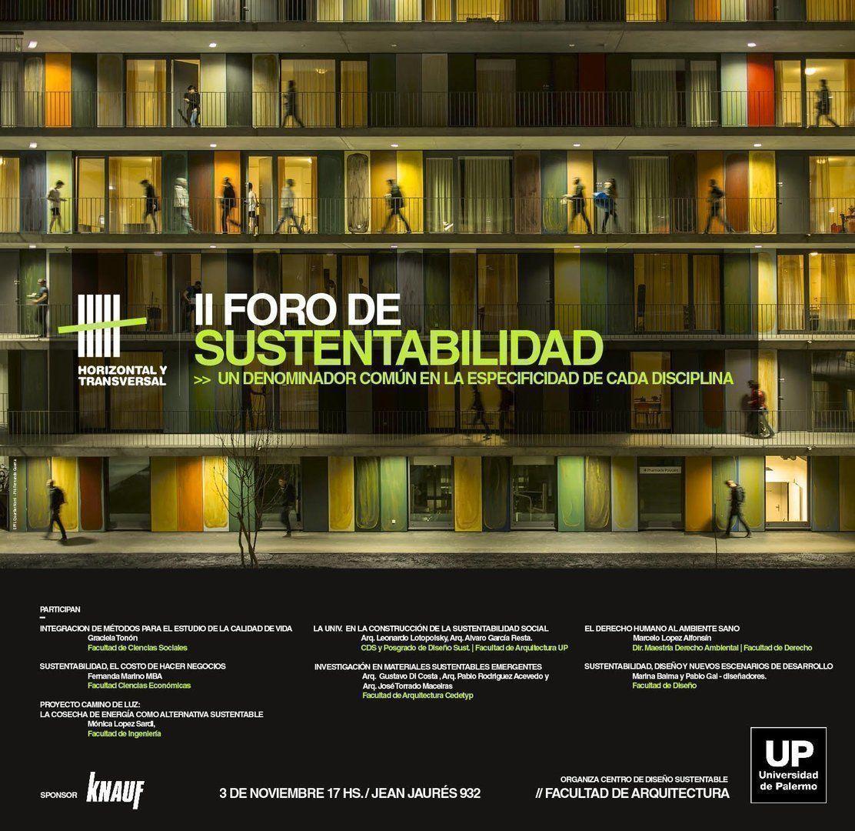 2do. Foro Sustentabilidad, en la UP
