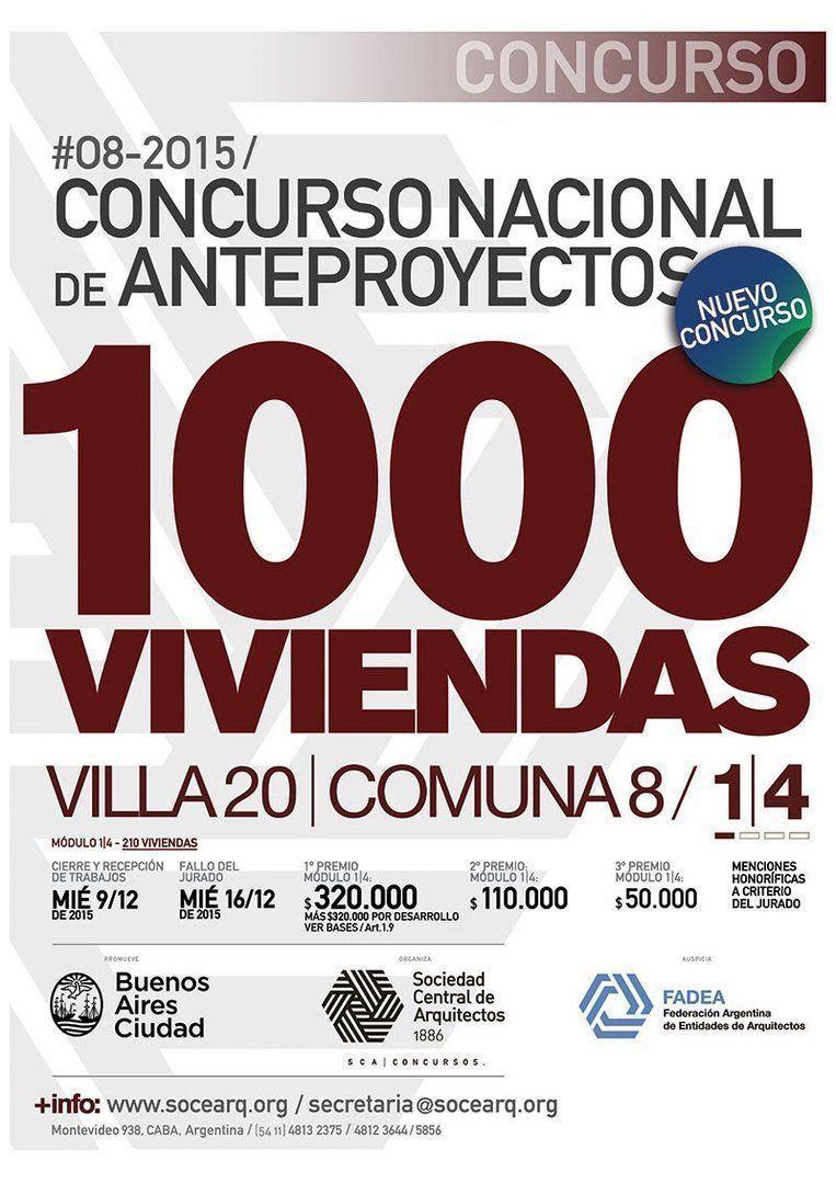 Concurso: 1OOO viviendas, comuna 8
