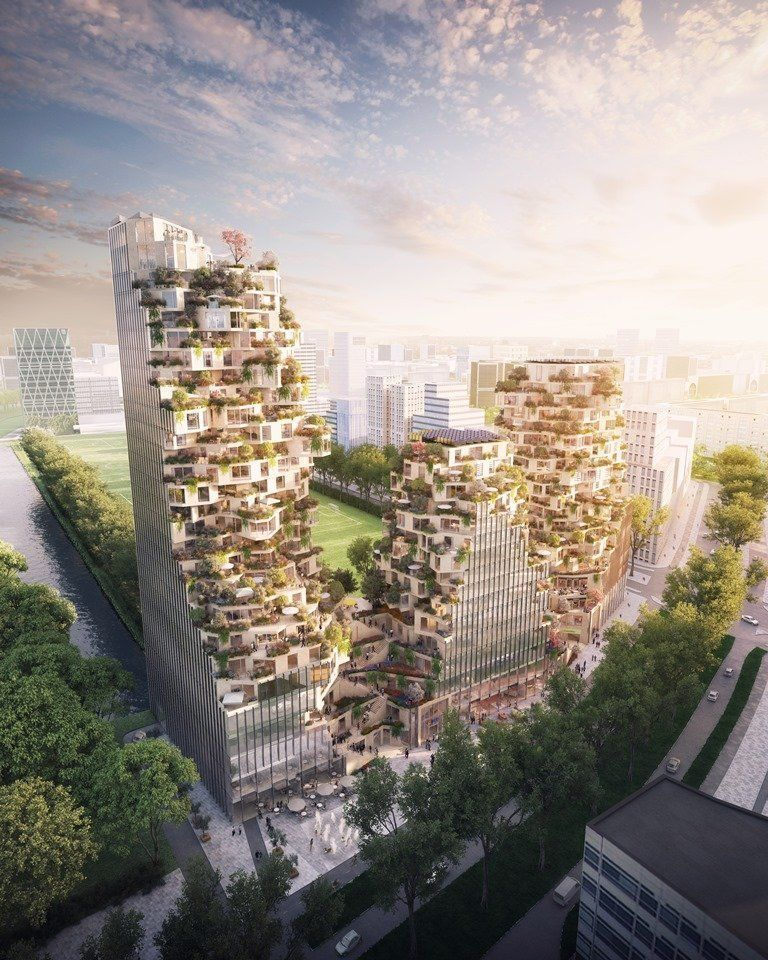 ARQA - MVRDV and OVG win competition in Zuidas Business District, Amsterdam