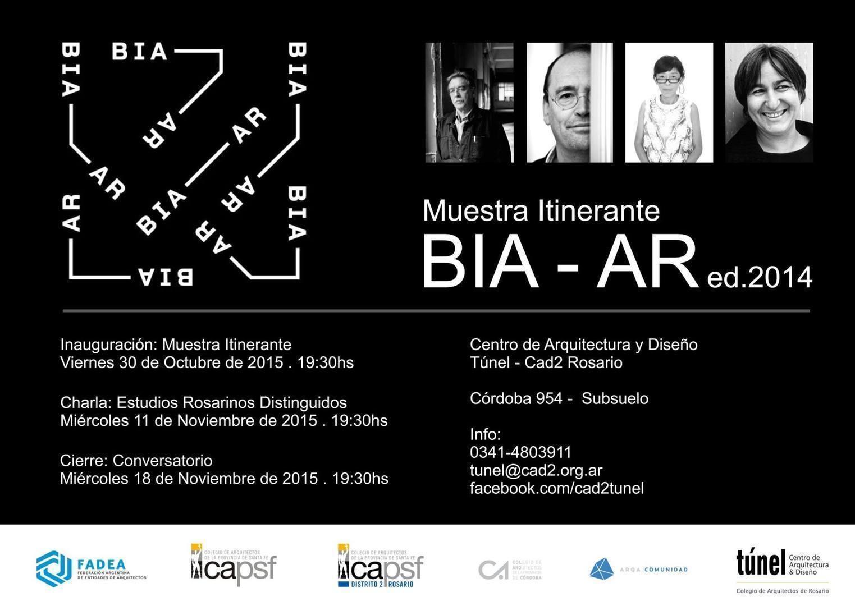 Charla de Estudios Rosarinos con obras distinguidos por BIA-AR2014