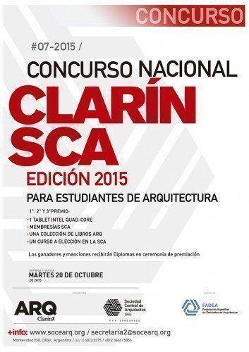 """Ganadores """"Concurso Nacional Clarín-SCA para estudiantes de arquitectura, edición 2015"""""""