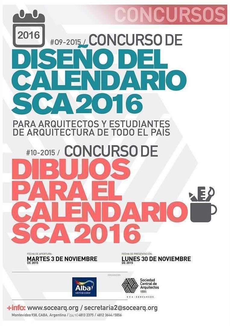 Concurso de dibujos y diseño para el Calendario SCA 2016