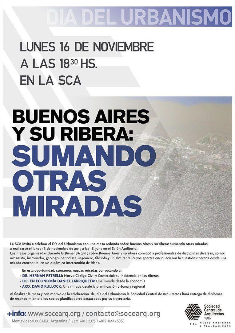 """Mesa redonda """"Buenos Aires y su ribera: sumando otras miradas"""""""