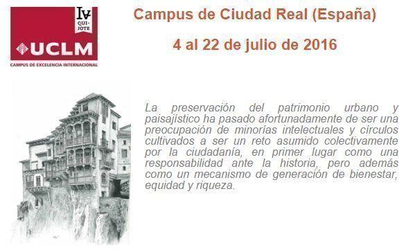 Postgrado Iberoamericano en Gestión y Revitalización de la Ciudad, el Paisaje y el Territorio - UCLM