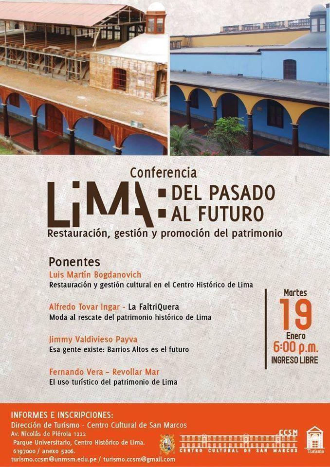"""Conferencia: """"Lima: Del pasado al futuro. Restauración, gestión y promoción del patrimonio"""""""