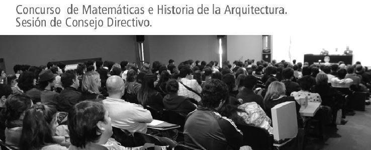 Concurso Matemáticas e Historia de la Arquitectura