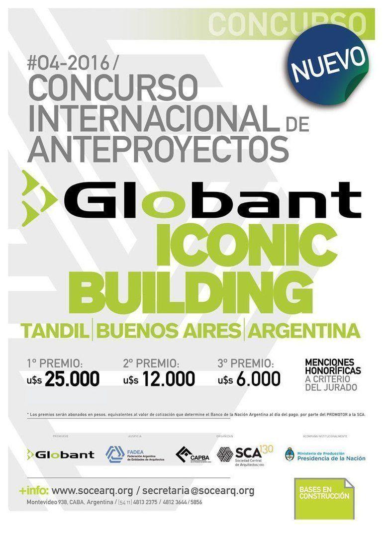 Concurso: Globant Iconic Building en Tandil, Buenos Aires