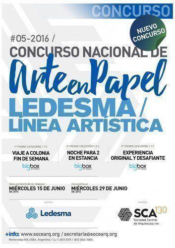 """Concurso Nacional de Arte en Papel Ledesma – Línea Artística"". Dibujos e Instalacione"