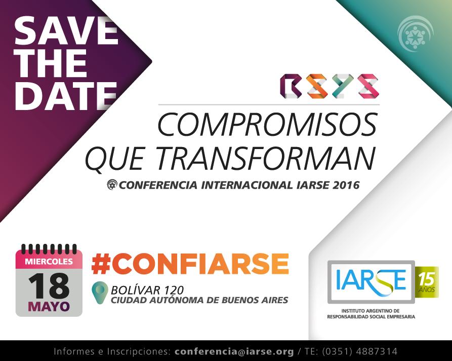Conferencia IARSE 2016: Compromisos que transforman