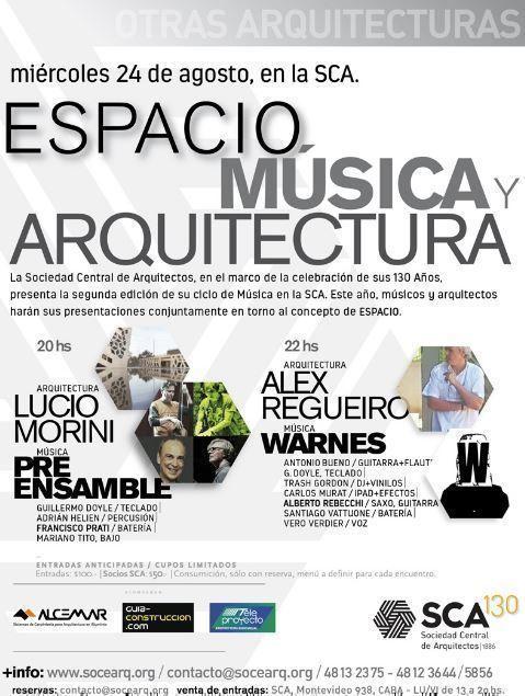 Espacio, música y arquitectura, en la SCA