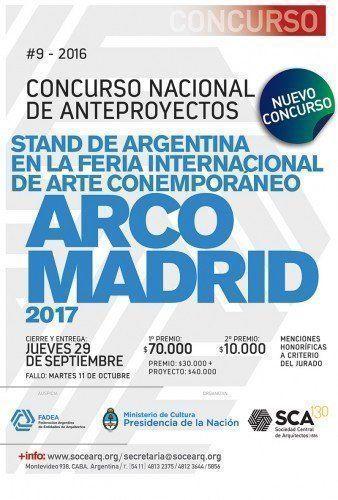 """Lanzamiento: """"Concurso Nacional de Anteproyectos para el Stand de Argentina en la Feria Internacional de Arte Contemporáneo ARCOmadrid 2017"""""""