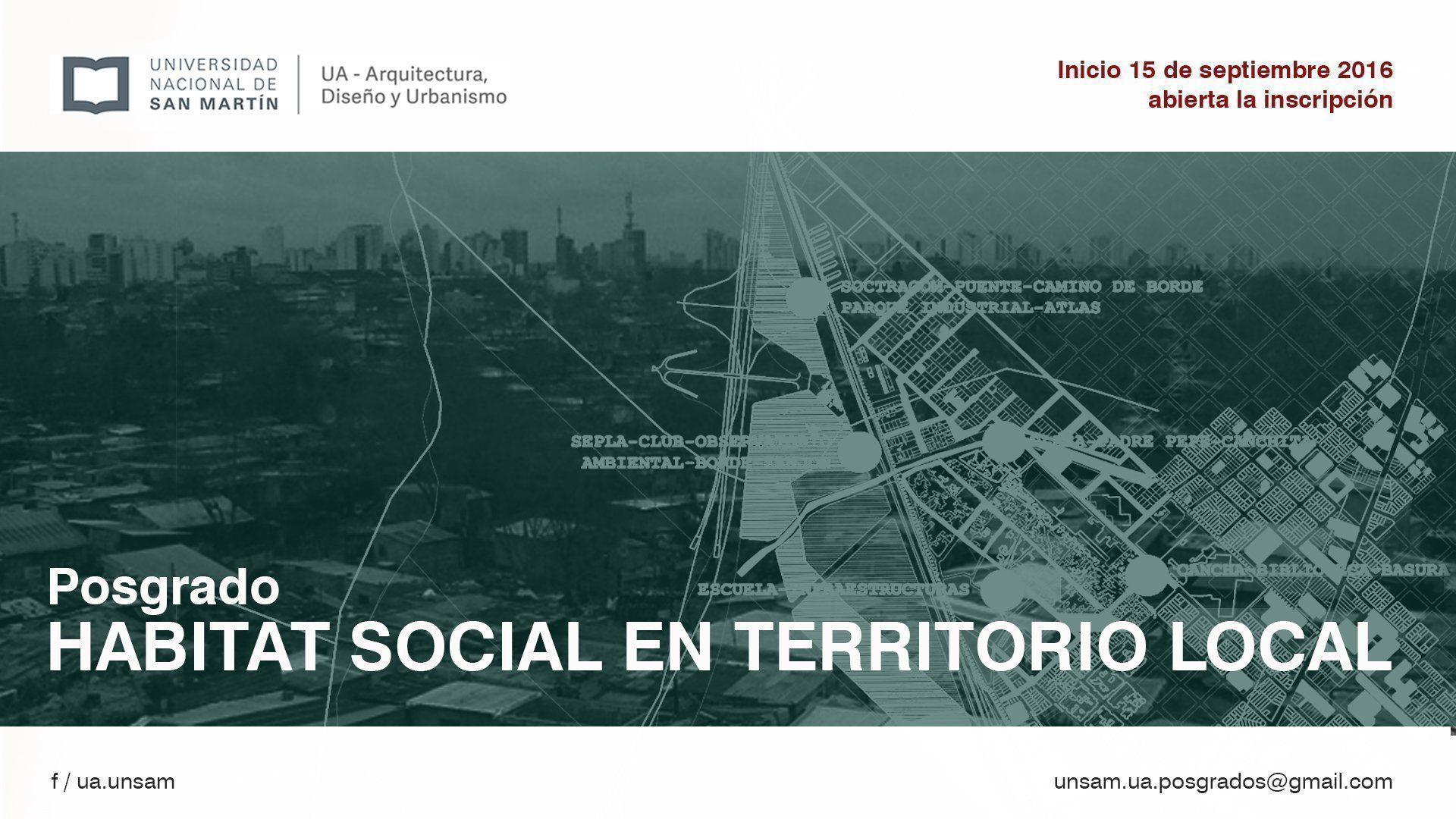 Posgrado: Hábitat social en territorio local