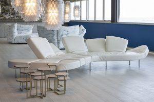 Sofa: Flap by Francesco Binfaré - Edra. Sofa: Standard Nuvola by Francesco Binfaré – Edra