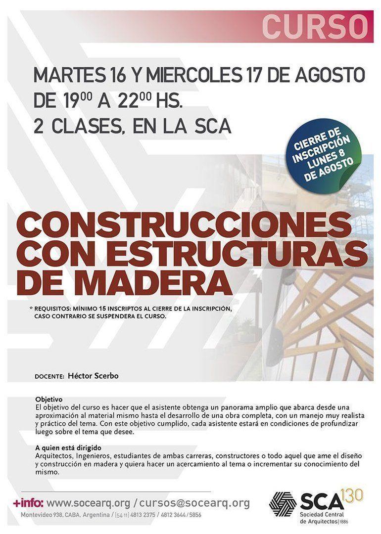 SCA - Construcciones con estructuras de madera