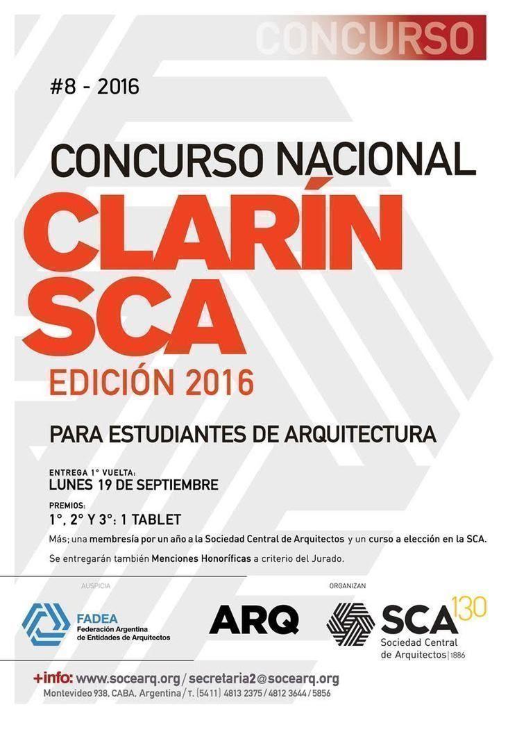 Concurso Nacional Clarín-SCA para estudiantes de arquitectura, Edición 2016