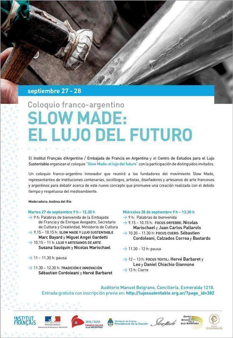 """Slow Made: el lujo del futuro"", coloquio franco-argentino"