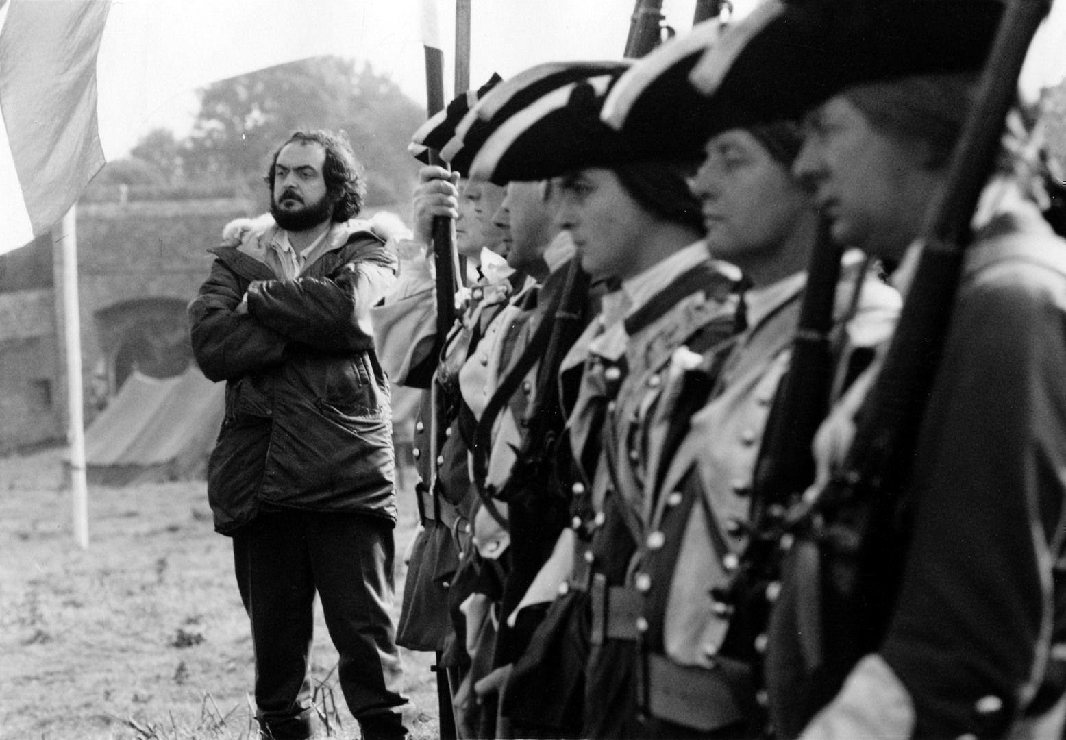 Stanley Kubrick on the set of Barry Lyndon