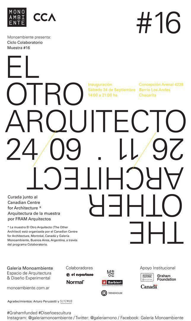 Monoambiente Muestra #16: El Otro Arquitecto (The Other Architect)