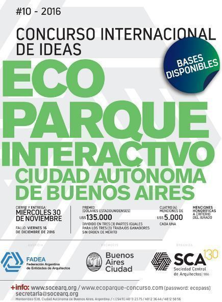 Concurso Internacional de Ideas Ecoparque Interactivo – Ciudad Autónoma de Buenos Aires