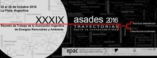 XXXIX Reunión de trabajo de la Asoc. Argentina de Energías Renovables y Ambiente: Trayectoria hacia la Sustentabilidad
