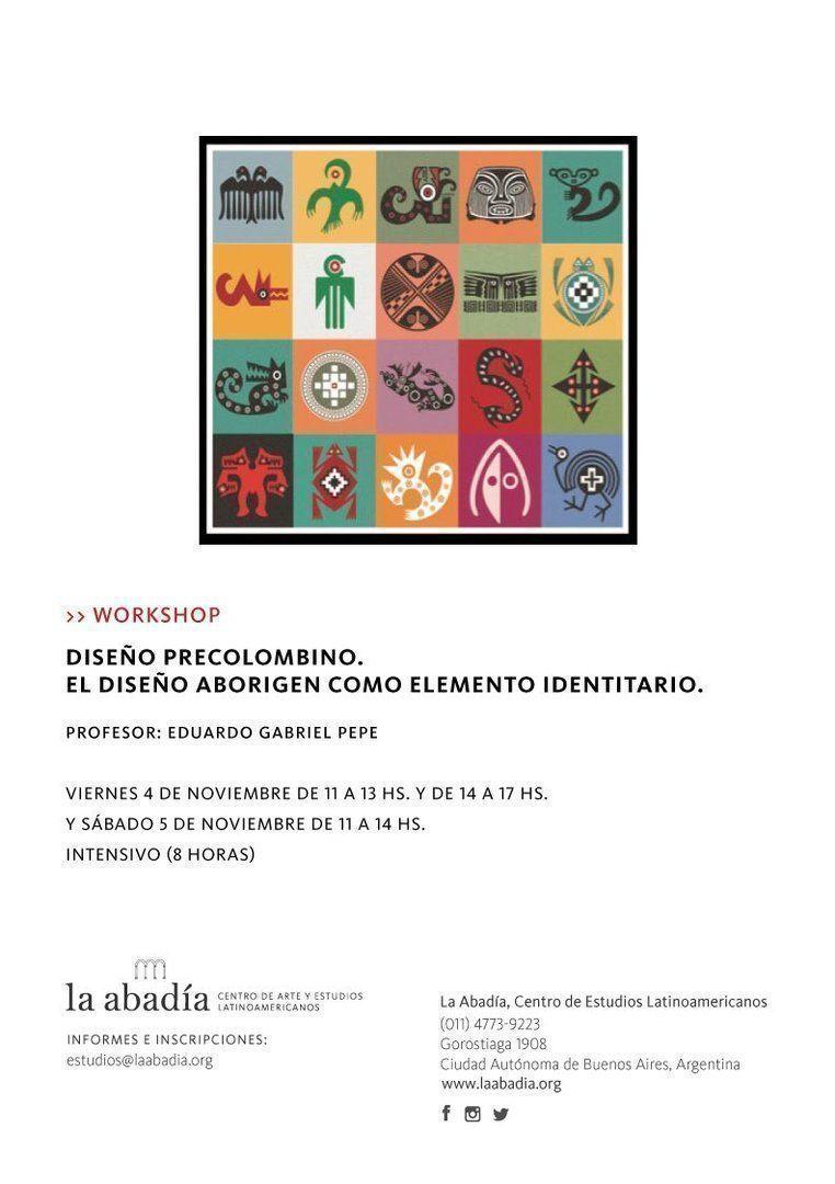 """Workshop: """"Diseño precolombino - El diseño aborigen como elemento identitario"""""""