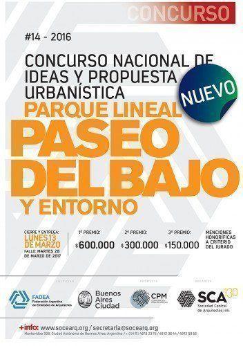 """""""Concurso Nacional de Ideas Parque Lineal Paseo del Bajo y entorno"""""""