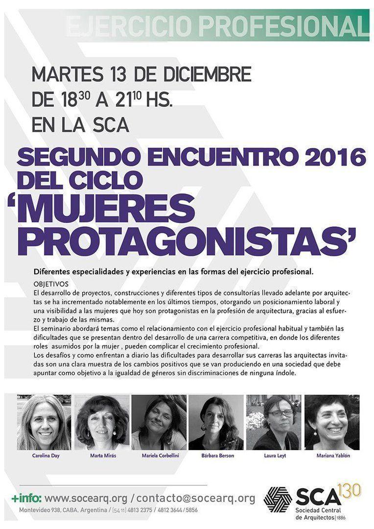"""Segundo encuentro 2016 del ciclo """"Mujeres protagonistas"""""""
