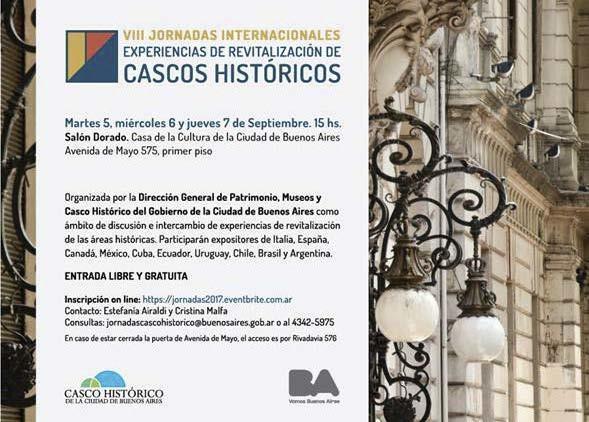 VIII Jornadas Internacionales: Revitalización de Cascos Históricos