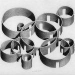 "Pezo von Ellrichshausen, Vara axonometry, pencil on paper, 27,9x35,5cm (11x14""), 2016"