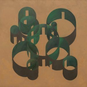 """Pezo von Ellrichshausen, Vara study, oil on canvas, 120x120cm (47,2x47,2""""), 2016"""