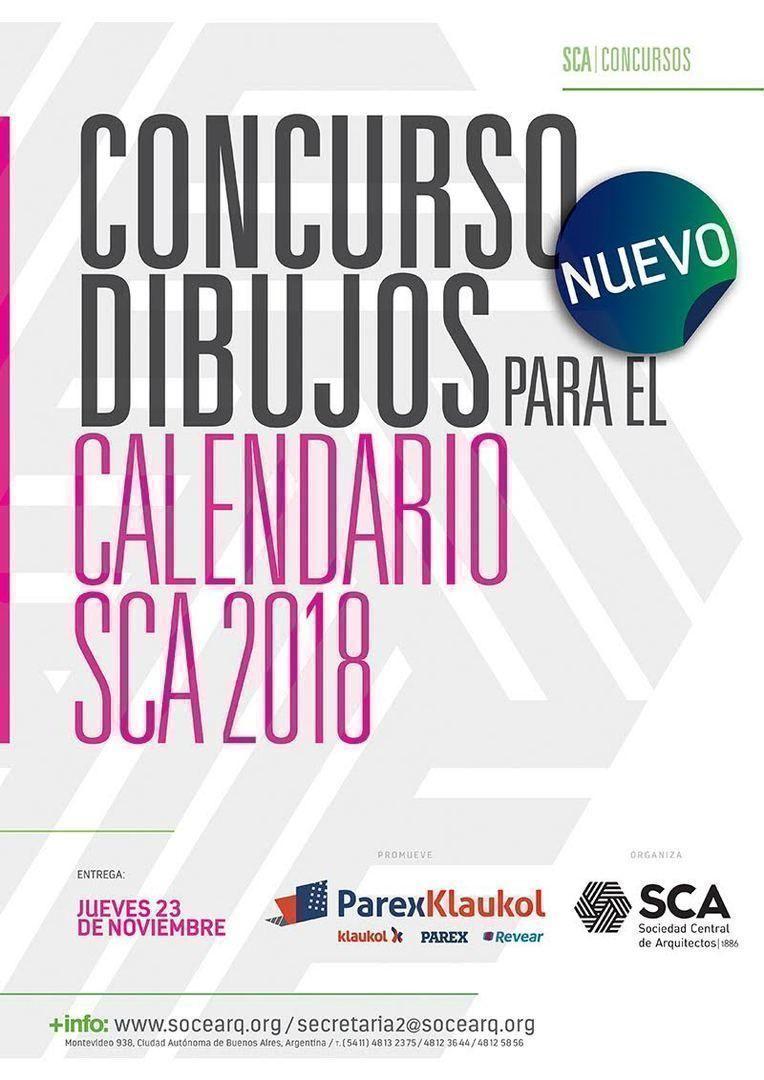 Concurso de dibujos para el calendario SCA 2018