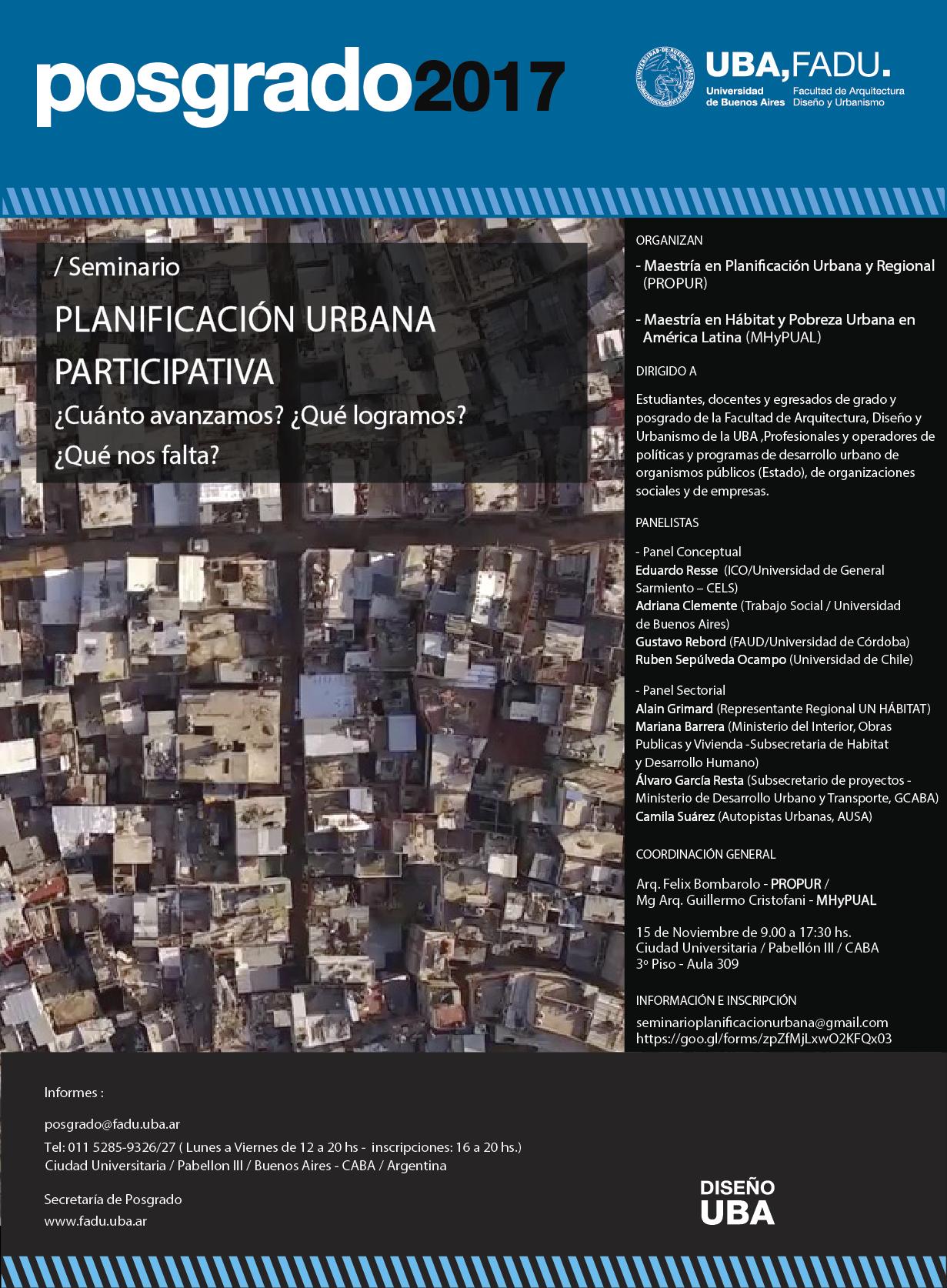 Planificación urbana participativa