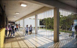 Escuela Primaria, Render interior