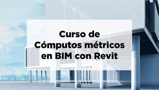 Curso de cómputos métricos en BIM con REVIT a 79USD en lugar de 349USD