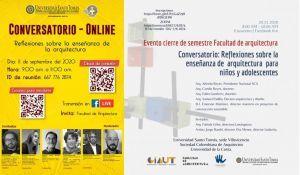 Conversatorios sobre infancia, arquitectura y educación con universidades colombianas