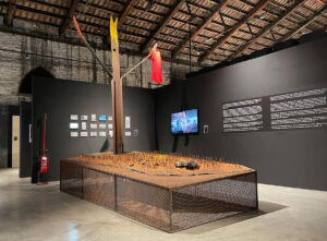 Photographs of the installation at the Venice Architecture Biennale: Lisa Pujatti and Leonardo Dubois